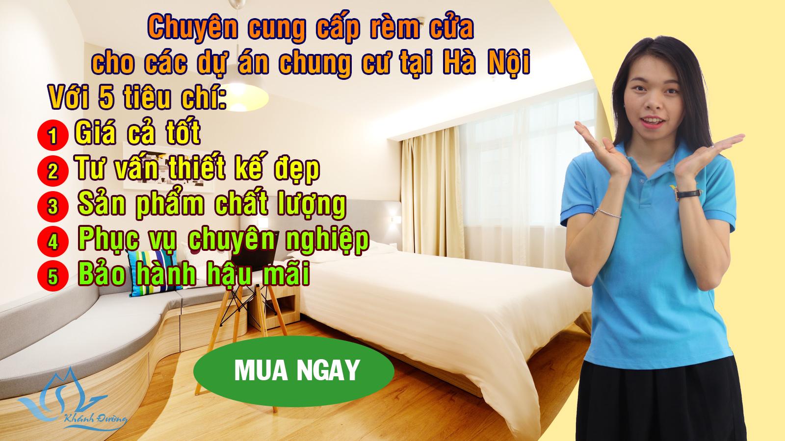 Chuyên cung cấp rèm cửa chung cư dự án công trình Hà Nội