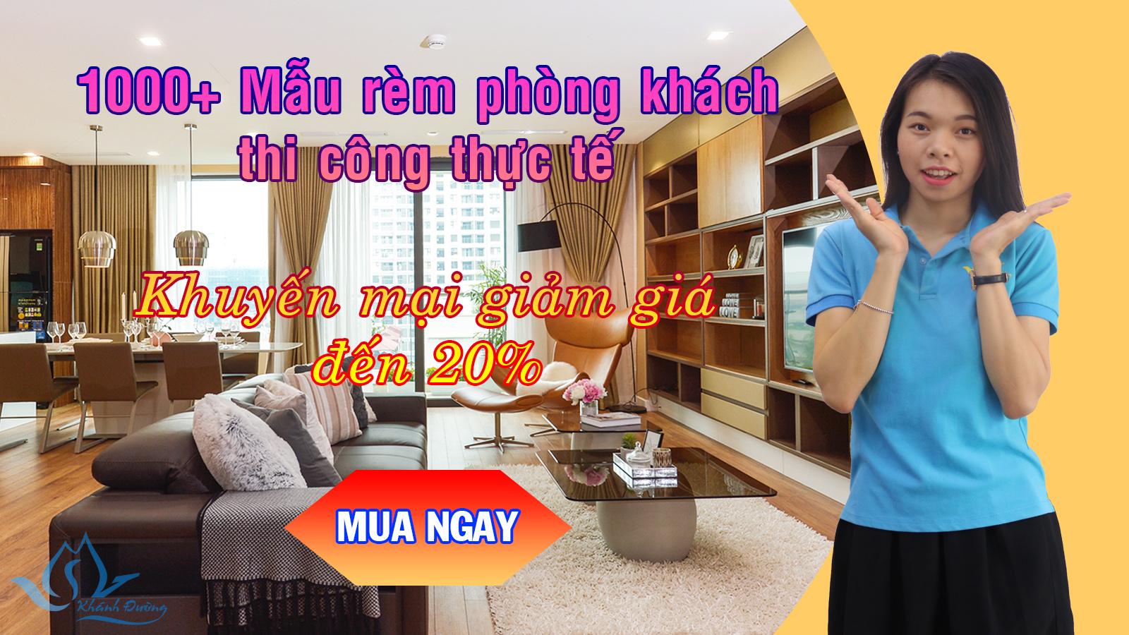 rèm phòng khách sang trọng nhất Hà Nội
