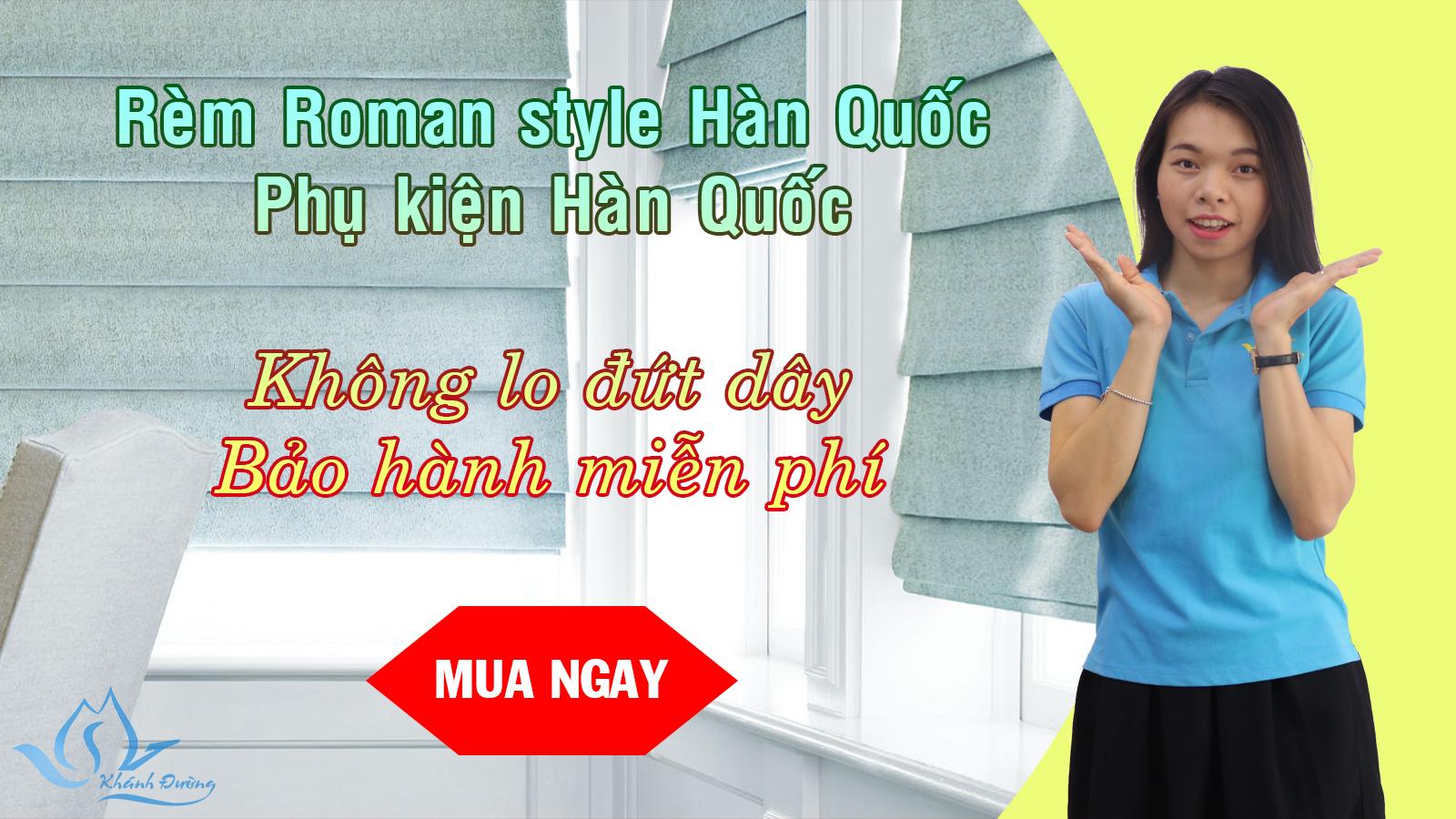Rèm Roman đẹp tại Hà Nội
