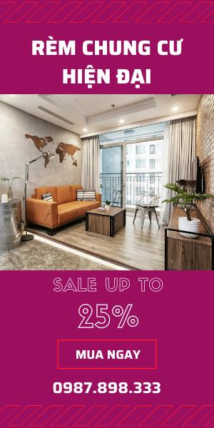 Rèm chung cư đẹp Sale 25%