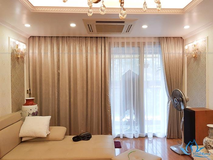 Giới thiệu mẫu rèm vải Nhật phòng khách BN203