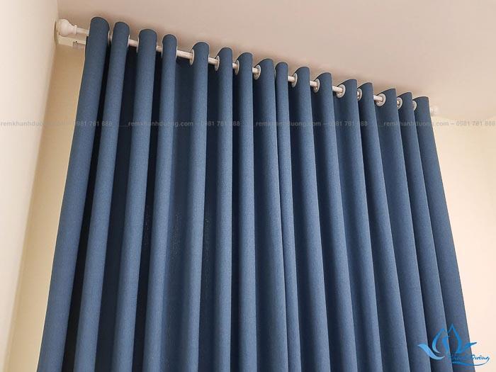 Hé lộ kiểu may tinh tế của rèm vải hai lớp HH504