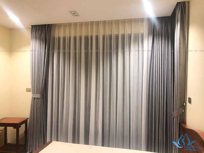 Giới thiệu mẫu rèm vải hai lớp sang trọng TM592