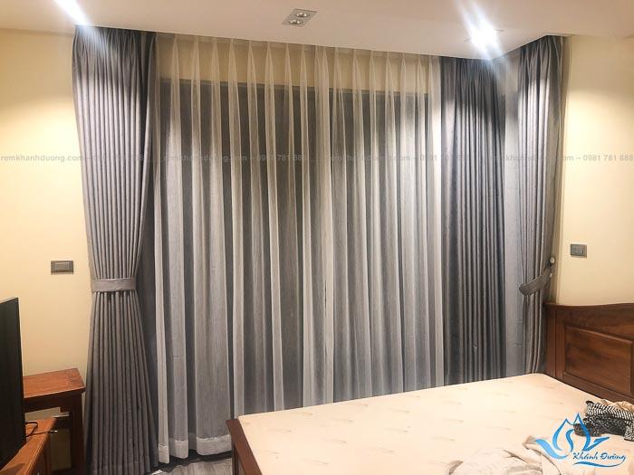 Kiểu dáng sang trọng của rèm vải hai lớp TM592