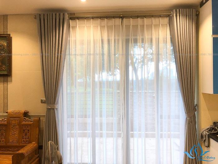 Giới thiệu mẫu rèm vải hai lớp cao cấp GP485