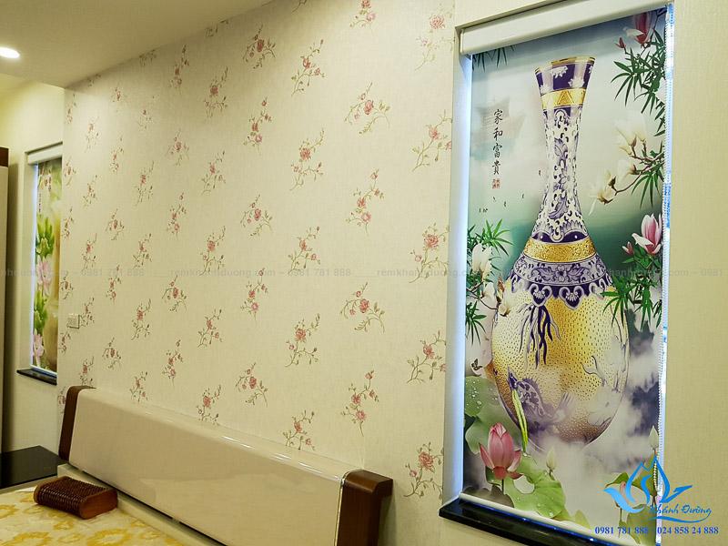 Hình ảnh cổ truyền của rèm cuốn in tranh 3D RT39