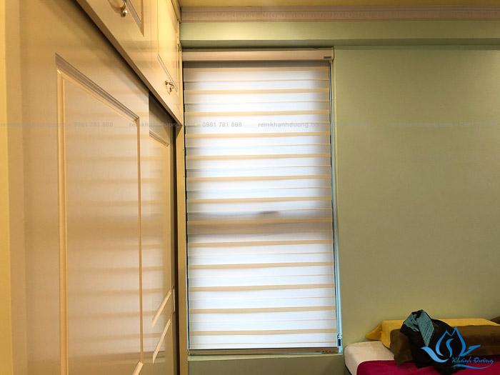 Mẫu rèm cầu vồng chống nắng đẹp cho cửa sổ phòng ngủ Định Công, Hà Nội
