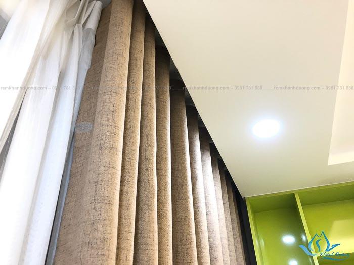 Rèm vải thô cho chung cư D'Capitale Trần Duy Hưng mã GP 485