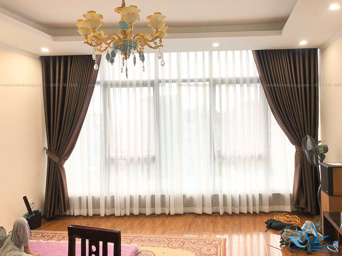 Giá rèm cửa vải tráng silicon cao cấp ở Mỹ Đình mã HH 887