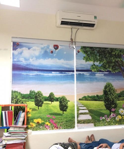 Giá rèm cuốn tranh 3D cho lớp học đẹp nhất tại Hà Nội