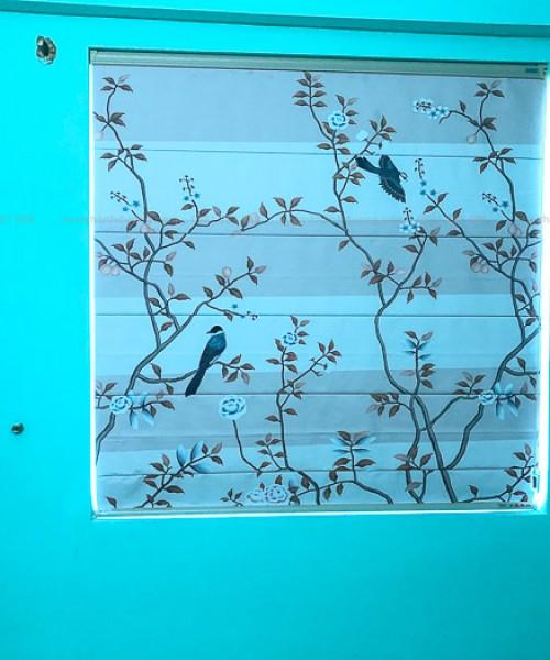 Giới thiệu mẫu rèm roman họa tiết đẹp tại khu đô thị Xa La RM01