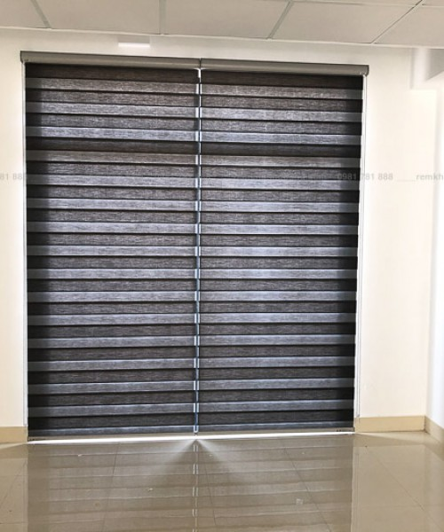 Lắp đặt rèm cầu vồng chống nắng cao cấp nhà mặt phố GreenBay AE525