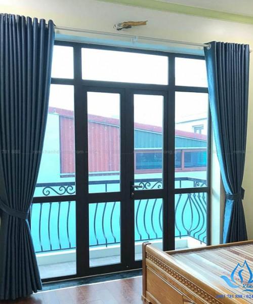 Lắp đặt rèm vải 2 lớp phòng ngủ đẹp khó cưỡng tại Nguyễn Khuyến GA5-18