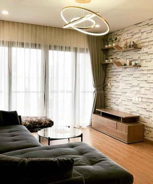 Màn cửa vải 2 lớp chung cư hiện đại tại Royal City, Thanh Xuân L18-27