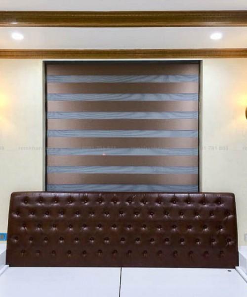 Mẫu rèm cầu vồng cao cấp cho phòng ngủ Master tại Gia Lâm CL 141