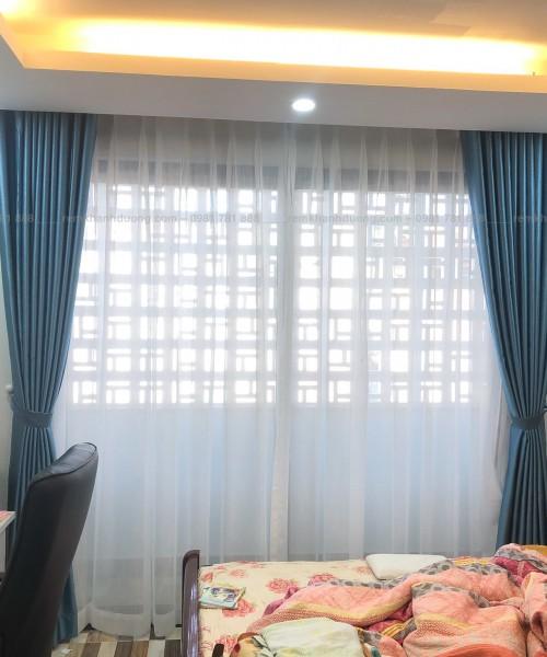 Mẫu rèm vải hai lớp gấm cao cấp HP 68 của Khánh Đường