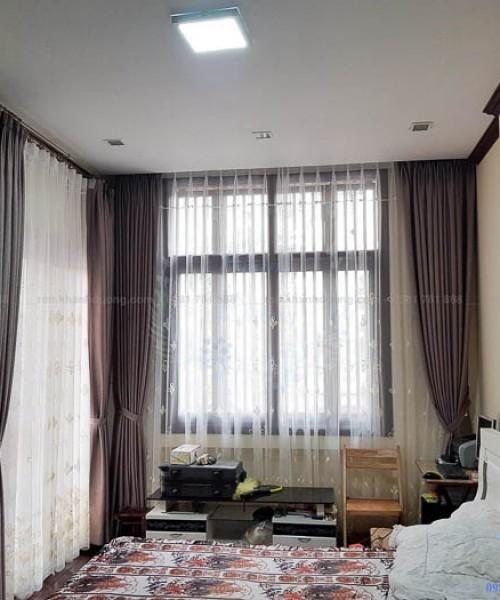 Mẫu rèm vải Hàn Quốc voan hoa thêu tay phòng ngủ tại Mỹ Đình 6800-9