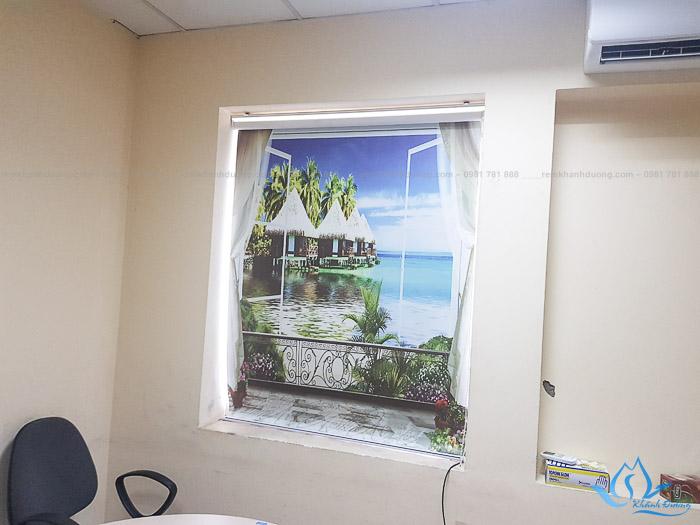 Lựa chọn rèm cuốn tranh 3D ấn tượng cho văn phòng phố Bà Triệu