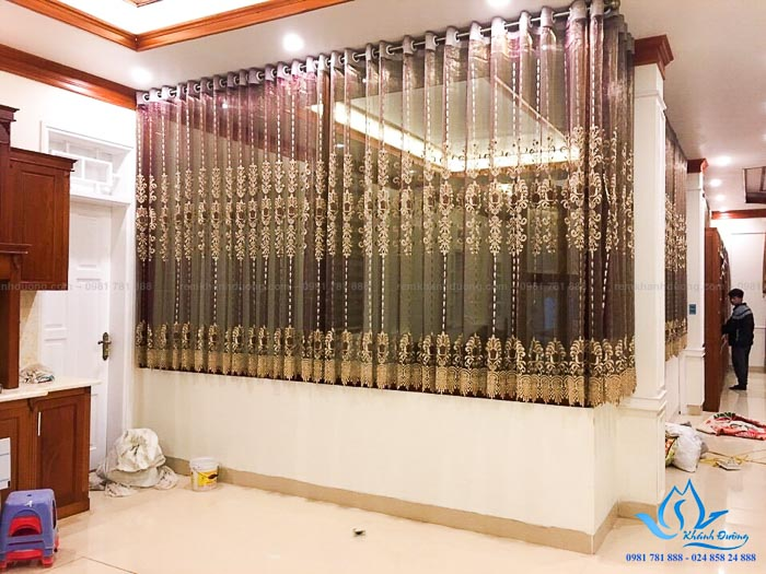 Mẫu rèm tân cổ điển sang trọng biệt thự KĐT Dương Nội, Hà Đông CĐ-02