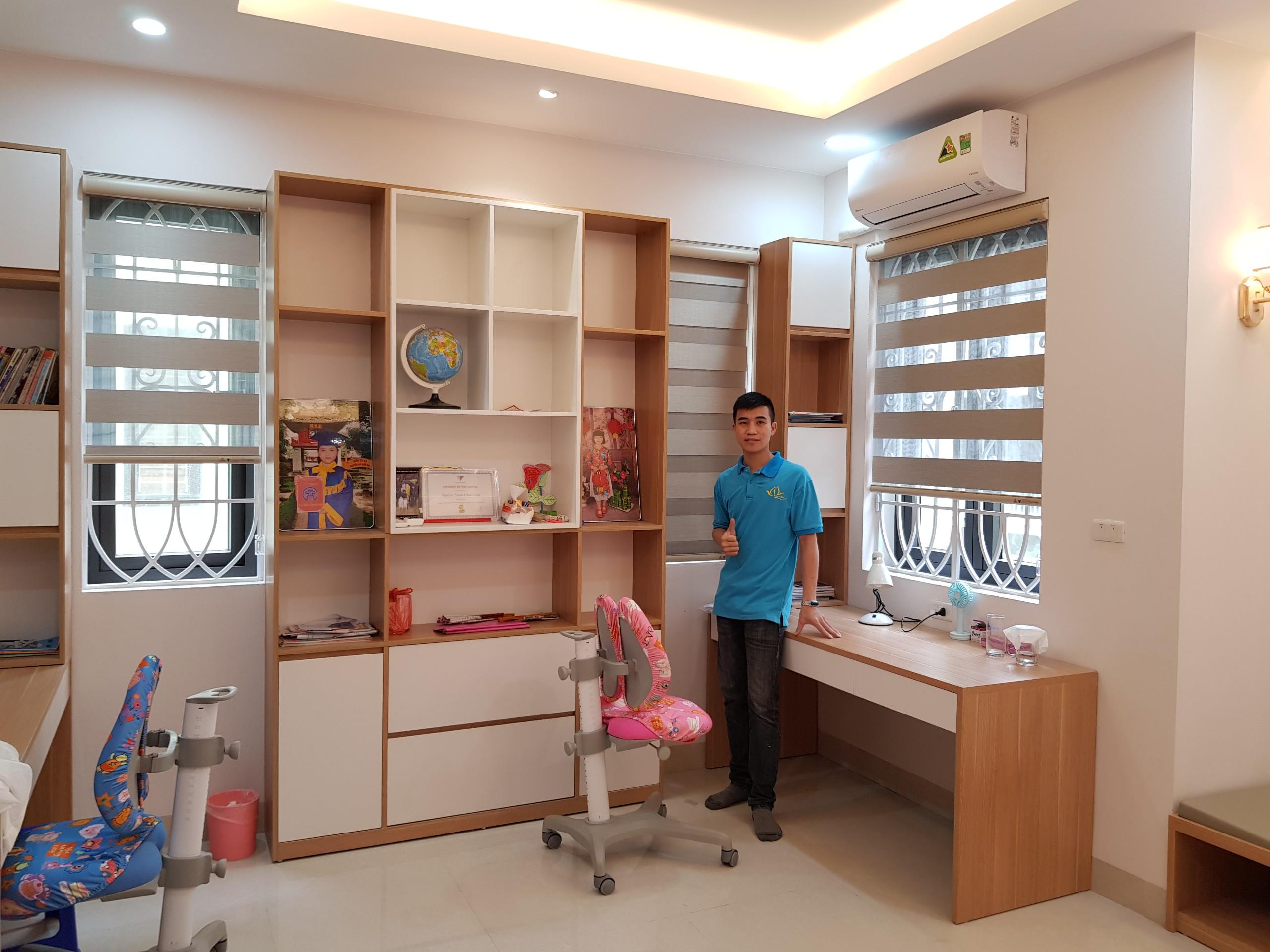 Lắp đặt rèm cầu vồng phòng ngủ đẹp nhất tại quận Đống Đa-Hà Nội VT471