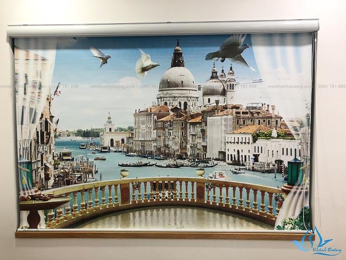 Rèm cửa cuốn in tranh phong cảnh rẻ đẹp ở Đại Mỗ mã CP 39