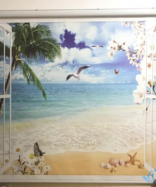 Rèm cửa cuốn tranh 3D cảnh biển mã CP-38 ở Phạm Văn Đồng