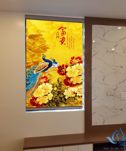 Rèm cuốn in tranh giá rẻ hình công phượng đẹp cho phòng ngủ mã CP-32