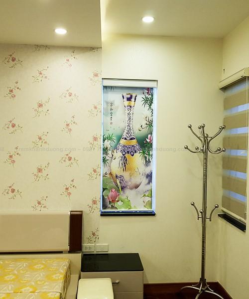Rèm cuốn tranh hình ảnh truyền thống trang nhã tại Âu Cơ, Hà Nội RT39