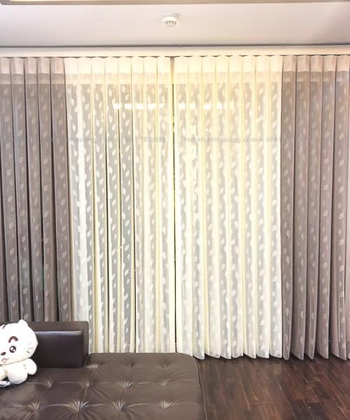 Rèm đứng Elise EL01  cao cấp phòng khách đẹp chung cư Imperia, Hà Nội