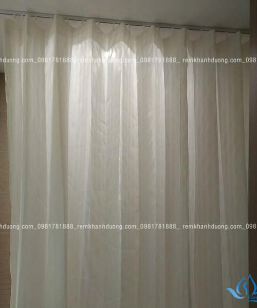Rèm nhà tắm chống nước màu kem tại Trần Quốc Vượng, Hà Nội PT110
