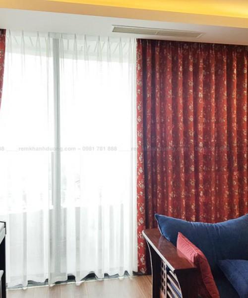 Rèm phòng khách Nhật Bản cao cấp  tại Ngoại giao đoàn, Tây Hồ SC3135