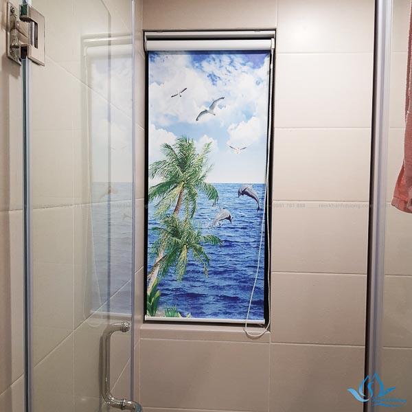 Rèm phòng tắm cuốn tranh in 3D tại Cầu Giấy