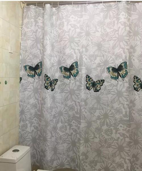 rèm phòng tắm chống nước đẹp cho không gian hiện đại