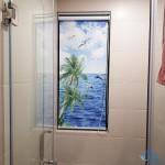 Rèm phòng tắm dạng cuốn tranh in 3D phong cảnh đẹp tại Cầu Giấy