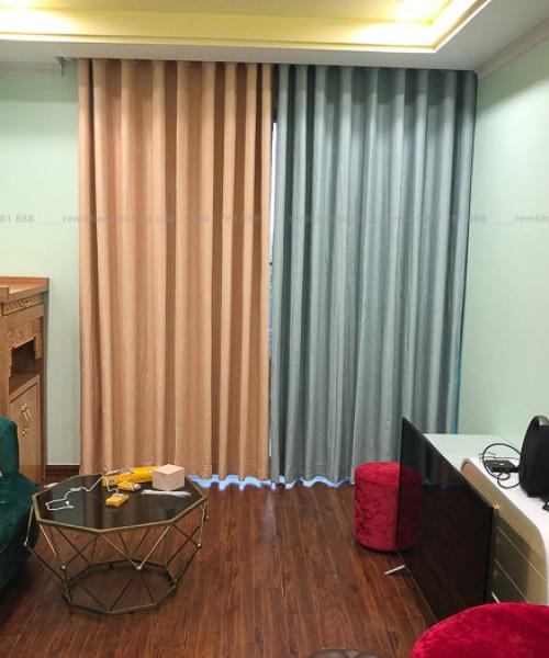 Rèm silicon phối màu cho phòng khách ấn tượng Định Công, Hà Nội RS02
