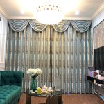 Rèm Tân cổ điển sang trọng cho phòng khách tại Nguyễn Tuân, Hà Nội HH190