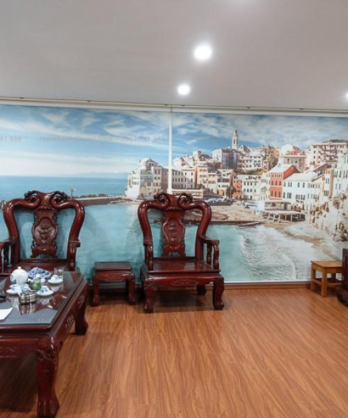 Rèm tranh phong cảnh in thường thanh lịch tại Tân Triều, Hà Nội RT37