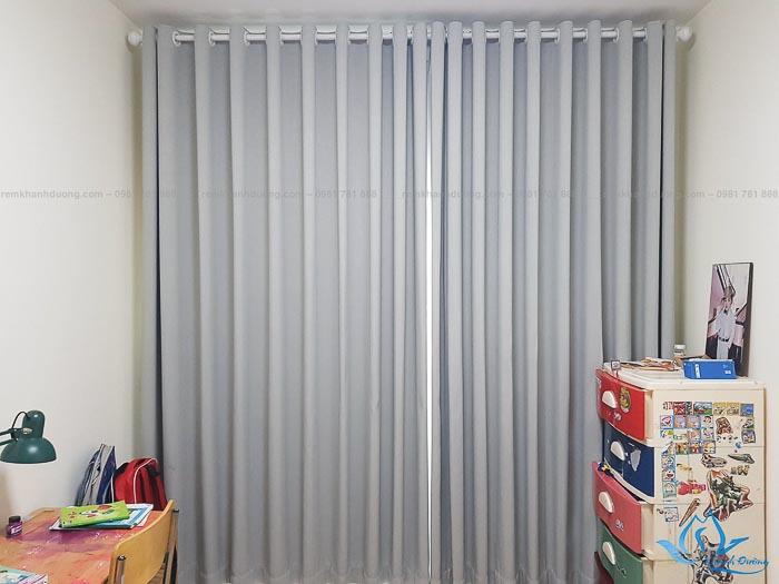 Rèm vải cửa sổ 2 lớp chống nắng cho chung cư tại Mỗ Lao, Hà Nội P401