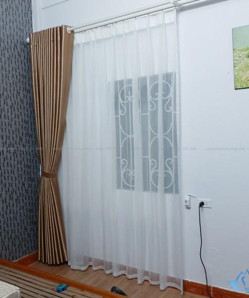 Rèm vải gấm đẹp cho phòng ngủ Hoàng Văn Thái, Thanh Xuân TM 80