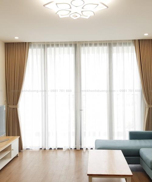 Rèm vải hai lớp chống nắng đẹp sang trọng tại Vincom Phạm Hùng TM695