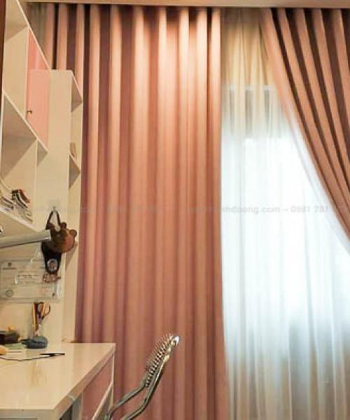 Rèm vải hai lớp màu hồng cho bé yêu quận Hoàn Kiếm 11-2A