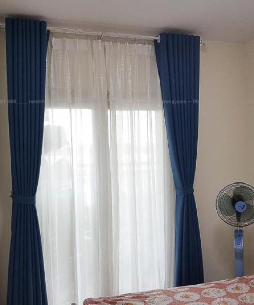 Rèm vải hai lớp màu sắc ấn tượng tại chung cư Booyoung, Hà Nội HH504