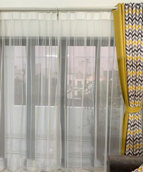 Rèm vải hai lớp phối màu độc đáo mã GP 486 ở Hoàng Mai