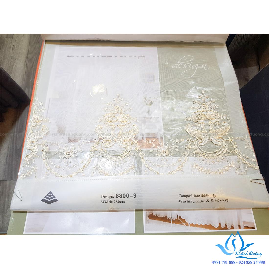 21 rèm vải hàn quốc voan hoa văn thêu tay tại chung cư Vimeco phạm hùng 3,500,000 (2)