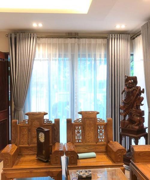 Rèm vải phòng khách cao cấp ở Láng Hạ mã GP 012