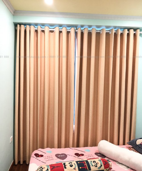 Rèm vải phòng ngủ tráng silicon chống nắng Định Công, Hà Nội RS03