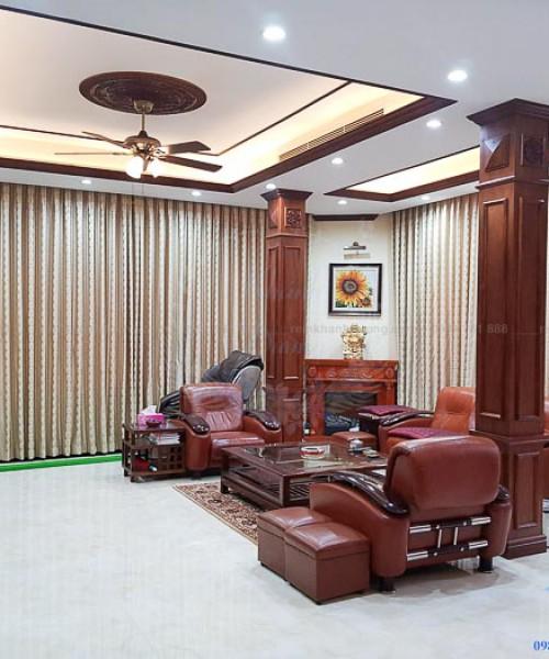 Rèm vải tân cổ điển cao cấp cho phòng khách tại Mai Dịch-Hà Nội 6800-9