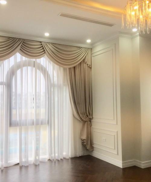 Rèm vải tân cổ điển đẹp chất liệu vải rèm Nhật Bản cao cấp  cho biệt thự