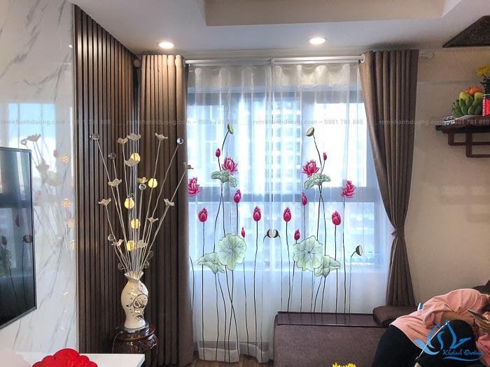 Địa chỉ bán rèm voan thêu tay phòng khách giá rẻ tại Hà Nội