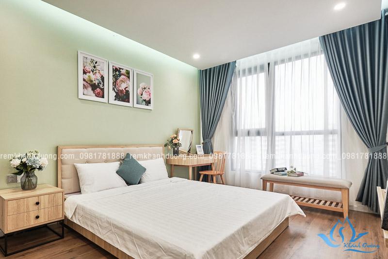 Rèm phòng ngủ cao cấp Hàn Quốc làm từ chất liệu hiện đại, thân thiện với môi trường